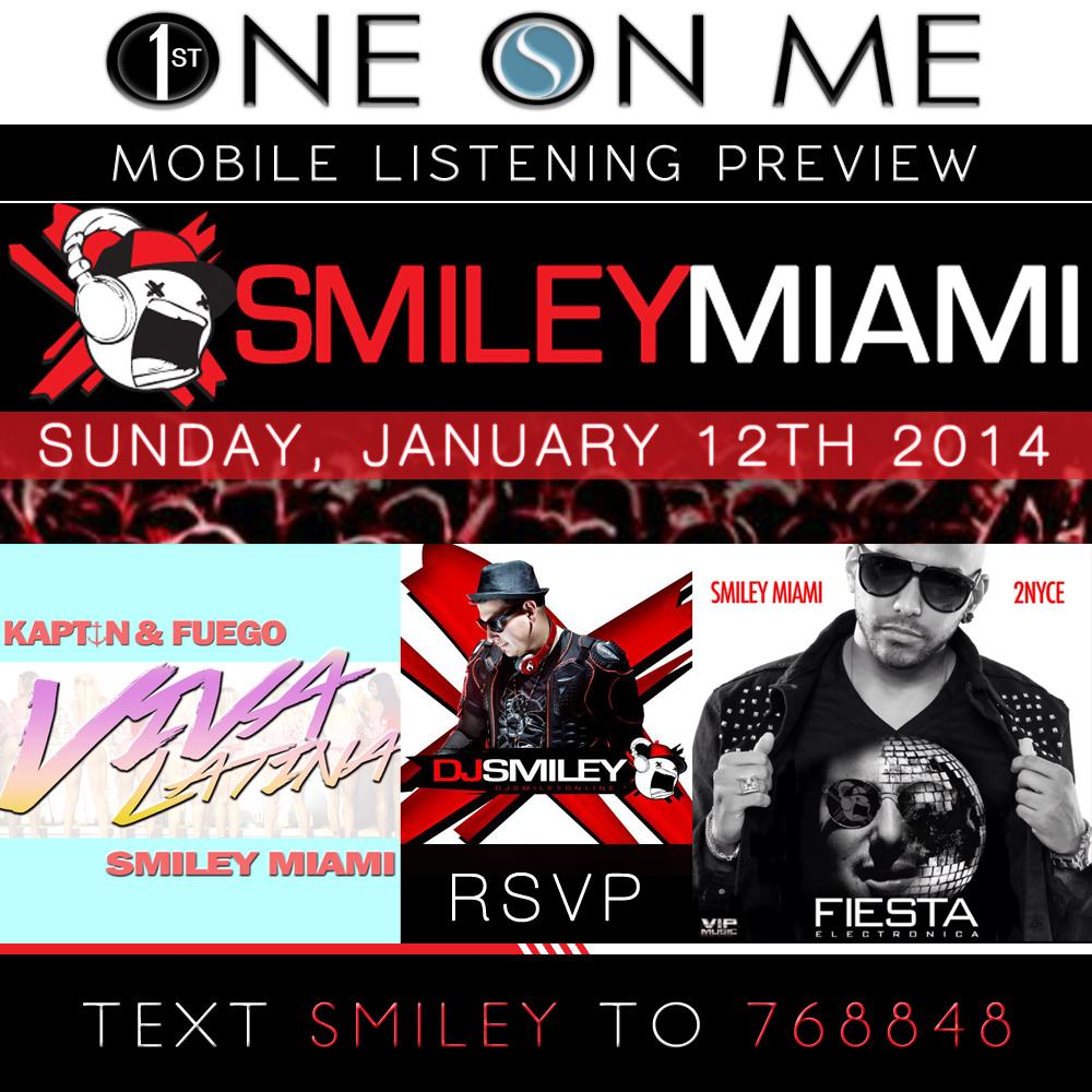 RA-SmileyMiami-1stOneOnMe-PromoSMS-Flyer